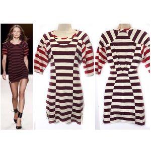 Isabel Marant 0 Cream Striped Dress Cotton Grady